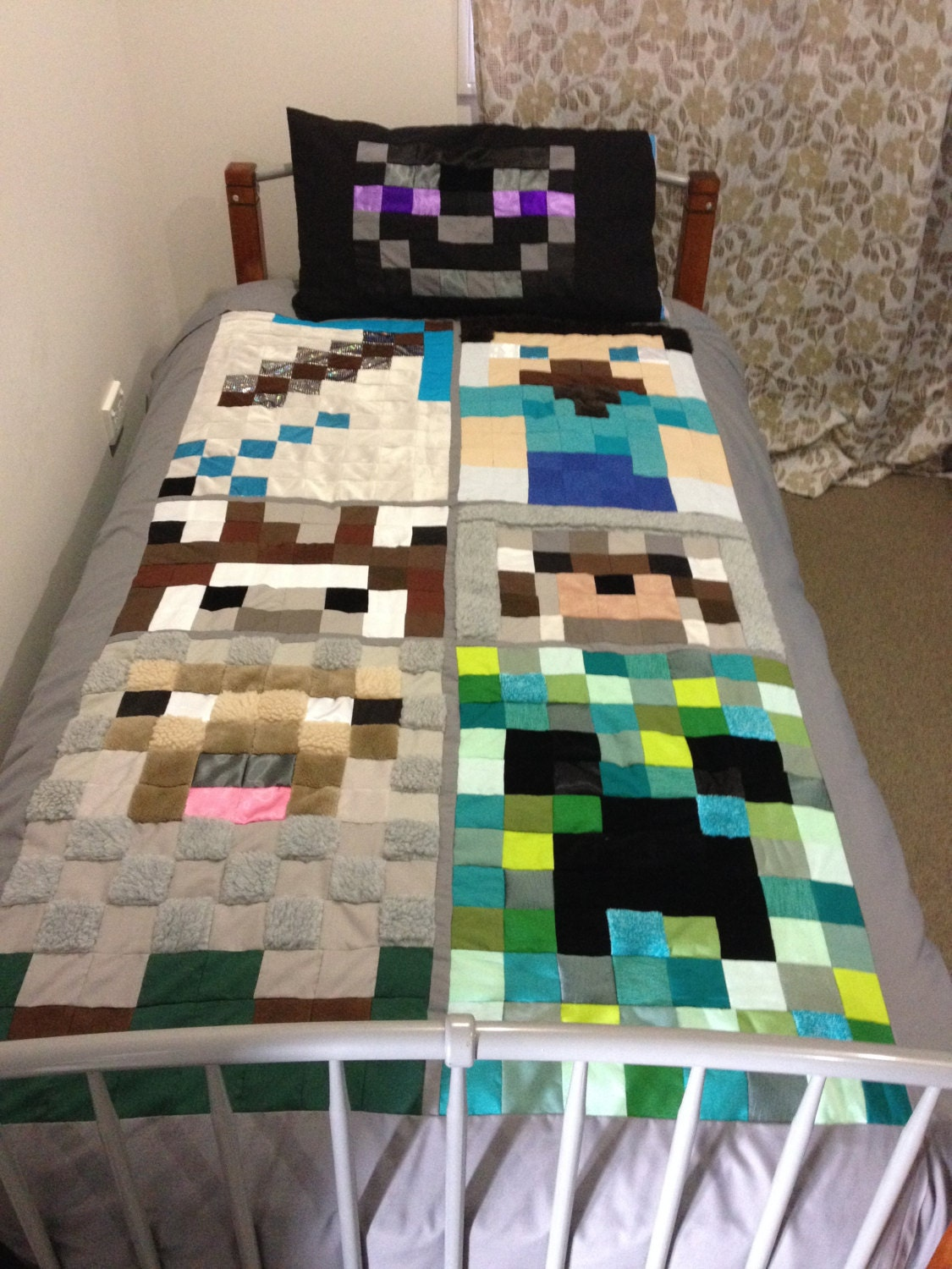 Minecraft Doona Cover And Pillow Case For By