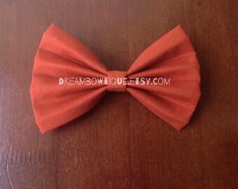 Orange Hair Bow, Burnt Orange Hair Bow