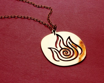 AVATAR The Last Airbender - Legend of Korra FIRE necklace - 4 colors available