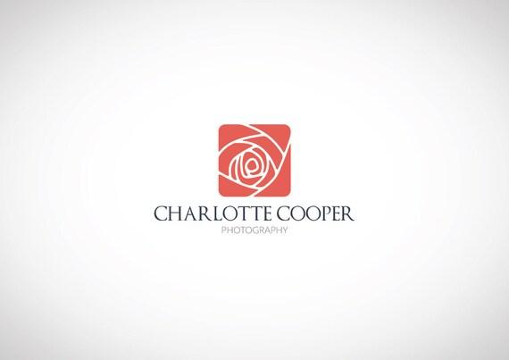 FLOWER LOGO Custom Premade Logo Rose Logo Photography