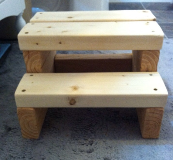 Items Similar To Wood Step Stool 8 5 Quot Tall On Etsy