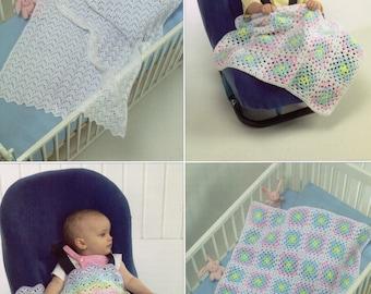 Baby DK Crochet Blankets shawls Crochet pattern PDF baby crochet shawl square shawl crochet motif blanket cot cover DK pdf Instant download