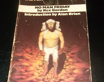 NO MAN FRIDAY Rex Gordon Vintage Science Fiction Paperback Book 1977 Master Series Space Travel Mars Robinson Crusoe
