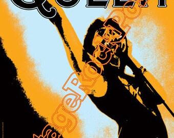 353 - QUEEN - Freddie Mercury - Dusseldorf - 16 may 1977 - artistic concert poster