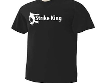 Bowler Strike King Bowling Lane Sport T-Shirt