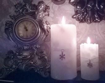 White Snowflake Candle