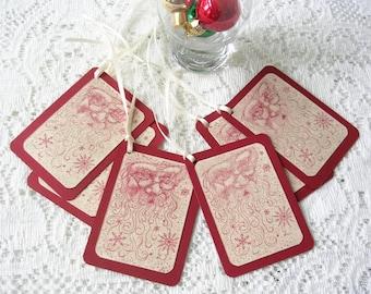 Holiday Gift Tags - Old World Santa Christmas Tags - Christmas Gift Tags - Rustic Christmas Tags - Santa Tags - Gift Wrap