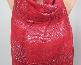 Burgundy Scarf Sparkle Scarf Shawl Shimmer Cowl Scarf Sparkly Scarf Women Fashion Accessories Christmas Gift Ideas For Her For Mom MELSCARF