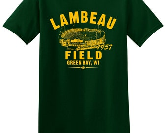 Lambeau Field 1957 Football Tee Shirt - Home of the NFL Green Bay Packers