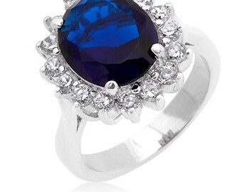 The Royal Wedding Ring | 6 Ct Kate Middleton Princess Diana Meghan Markle  Blue Sapphire Royal