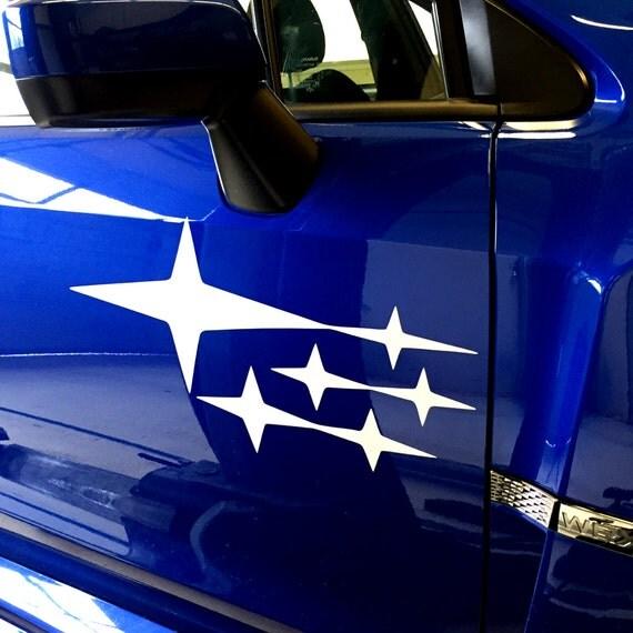 Custom Subaru Vinyl Decal Graphics For Door Or - Custom exterior vinyl decals
