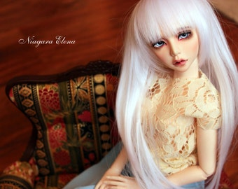 1/4 long translucent dress for bjd msd