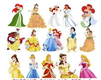 Clip Art Disney Princess Clipart disney princess clipart etsy princesses 40 png digital printable pictures ariel jasmine snow white cinderella clip art graphic invitations clipart