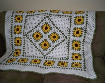 Crochet Pattern - Sunflower Lapghan