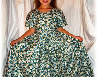 Classic Everyday Dress PATTERN CHILD sizes with FREE Video Tutorial