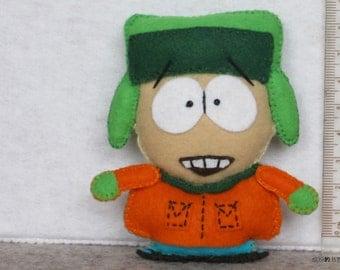 Felt Kyle Broflovski of South Park with rotatable arms