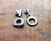 Tiny Art Deco Antique Key Charms // End Of Winter SALE - 10% Off - Coupon Code SAVE10