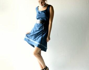 Blue dress, Silk dress, Formal dress, Tunic dress, Womens clothing, Boho dress, womens dress, Winter dress, shift dress, Asymmetrical dress