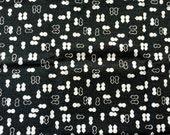 Traditional Japanese Fabric - Cotton Fabric -  Gourds - Black  Fabric  Half Yard (F64)