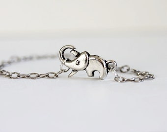 Silver Elephant Bracelet Sterling Silver Elephant Bracelet ELEPHANT Jewelry