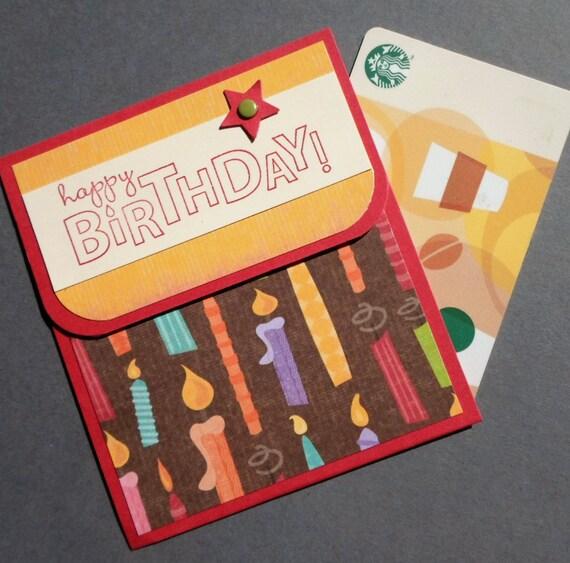 Happy Birthday Gift Card Holder Hand Stamped Birthday Money