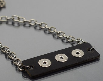 Industrial Jewelry- Black & Silver Upcycled Electronic Part Necklace, Found Object Jewelry, Modern Jewelry, Contemporary Jewelry