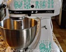 Pyrex Amish Butterprint Vinyl Decals for your Kitchen aid Mixer
