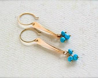 Sea Spray Earrings - modern dangle earrings, metalsmith jewelry, sleek spike earrings, birthstone earrings, birthstone jewelry, E24
