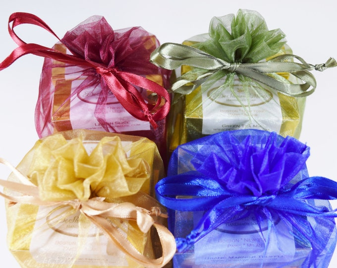 SOAP GIFT - 6 handmade soap samples, vegan soap, soap gift set, christmas gift, holiday gift