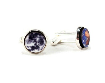 Planet Cufflinks Solar System - Science Custom Men -  Geek Nerd Science Chemistry