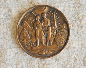 Vintage Bronze Medal, 1990 Medallic Bronze Art Co, Danbury CT,  Foothill Ranch