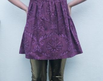 UPCYCLED violet purple babydoll dress o.o.a.k handmade size M UK 12