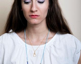 Citrine Necklace, November Birthstone, Yellow Citrine Drop Necklace