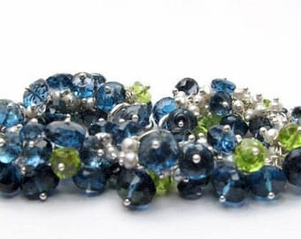 Spring - London Blue Topaz and Peridot Bracelet