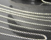 Sterling Silver Rolo Chain - 1.5mm Rolo Chains 3, 5, 10, 30, 50 or 100 Feet - 30% off Wholesale Chains C004