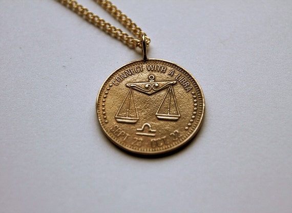 Libra Necklace Constellation Zodiac Charm By Muffybrandt-2341