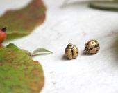 Gold Ladybug Earrings - Lady Bug Stud Earrings - Ladybird Jewellery - Ladybird Earrings - Tiny Bug Earrings - Ladybug Jewelry - Lady Bug Art