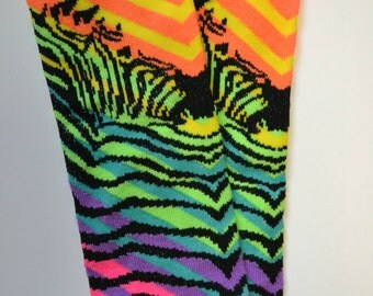 Rainbow Zebra Leg Warmers, Arm Warmers, Baby, Toddler, Girl