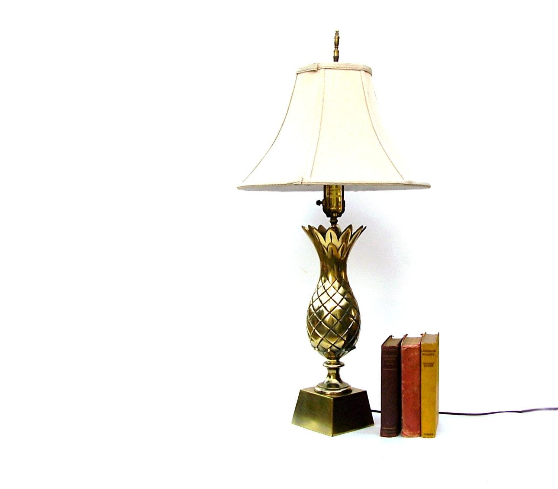 Vintage Brass Pineapple Lamp Mid Century Modern Lighting