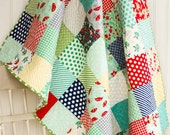 April Showers Baby Quilt - Small Lap quilt - READY TO SHIP