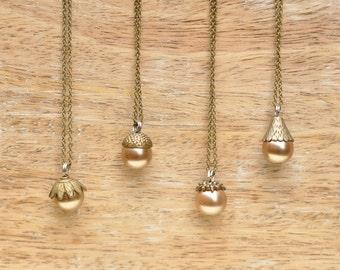 Titania Acorn Pendant Necklaces