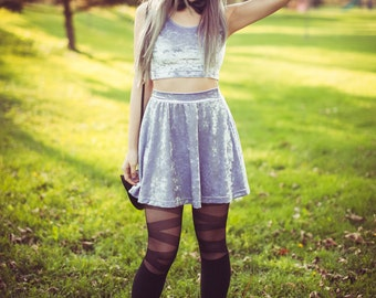 Amethyst Witch Skater Skirt (made to order)