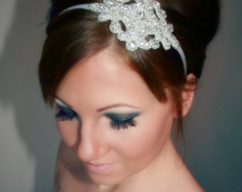 Rhinestone Bridal Headband, Wedding Hair Piece, Bridal Headpiece, JORDAN, Hair Accessories, Wedding, Bridal