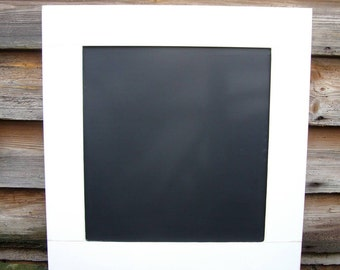 Kitchen Chalkboard - White Blackboard - Rustic Memoboard - Plain Chalkboard - Family Noteboard - Home Decor UK - Kitchen Organiser