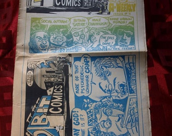2 Bit Comics No 4 1971 Underground Alternative Head Comix Newspaper Dormouse Warner Shrdlu MATURE