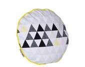 SALE. Geometric Chair pads Soft Triangles Round Chair Pads DOTS Chair cushion, chair pads, dining chair cushion, chair pillow, 16x16
