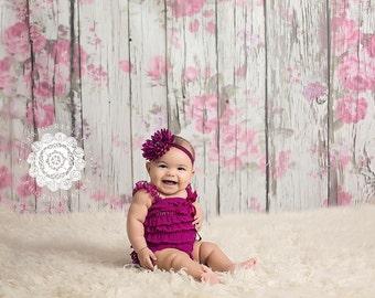 Baby Headband - Infant Headband - Little Girl Headband - Flower Headband, Plum Purple
