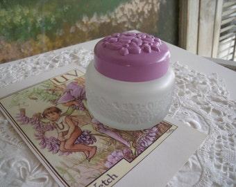 Vintage 1970's AVON Raining Violets Cologne Jar - vanity - collectibles