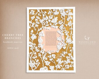 Cherry Tree Branches papercut ketubah