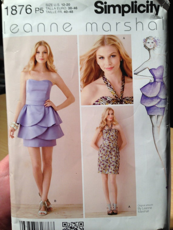 Simplicity Sewing Pattern 1876 Misses/Miss Petite Dress By Leanne Marshel Size 12-20